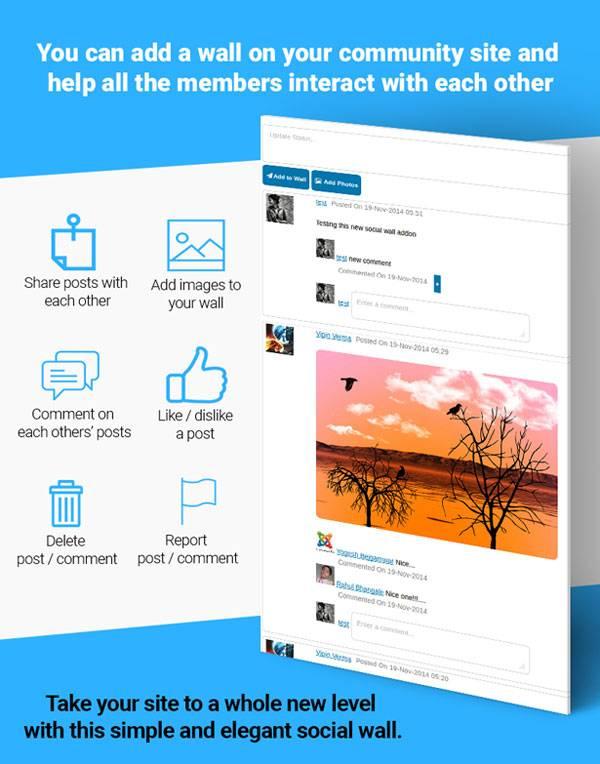 افزودنی اشتراک گذاری مطالب خود بر روی دیوار خود Social Wall Addon For UserPro