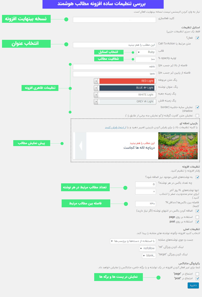 افزونه Inline Related Posts Pro